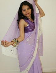 Pic gal 028. Kavya in indian sari gifted by her website member